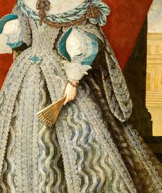 Mariana de Austria (detail), by Frans Luycks. Beautiful Outfits, Cool Outfits, Off With Their Heads, Baroque Fashion, Detail Art, Historical Costume, Woman Painting, Clothing Patterns, Costumes