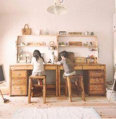 workspace MARTCHELLO gedeelde meisjes kamer dubbel bureau work space