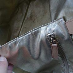 More damage on interior pocket
