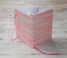 Handgemaak notitie boek in offwhite gekaft met door Marinabooks
