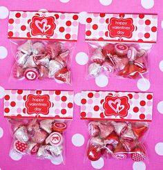 Free printable hershey kiss stickers and bag toppers for Valentines Day.