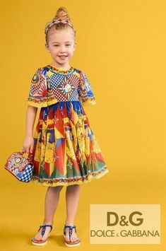 Stunning! Girls Chiffon Silk Special Occasion Dress. Yellow Red Blue Carretto Print. Mini Me Outfit from Women's Carretto Fall 2021 Collection. Cute matching Leather Handbag and Sandals. Shop @ Childrensalon (affiliate). #dolcegabbana #minime #girlsdress #childrensalon #dashinfashion Girls Special Occasion Dresses, Girls Dresses, Girls Designer Clothes, Dolce And Gabbana Kids, Blue Party Dress, Stunning Girls, Holiday Outfits, Dress Ideas, Silk Dress