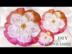 DIY accesorios de moda flores moños en cintas de raso y organza para el cabello - YouTube