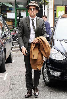 A dapper Ethan Hawke headed to BBC Radio 2 studios in London April 2.