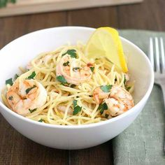 Lemony Shrimp Scampi Pasta Recipe (sub with zucchini pasta)
