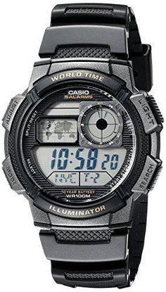 Oferta: 21.5€ Dto: -45%. Comprar Ofertas de CASIO Collection AE-1000W-1AVEF - Reloj de caballero de cuarzo, correa de resina color negro (con cronómetro, alarma, luz) barato. ¡Mira las ofertas!