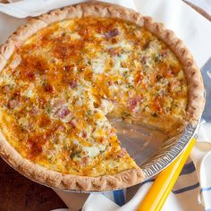 Ham and cheese quiche. This quiche is packed full of sharp cheddar cheese and ham. Lots of other quiche recipes, too.