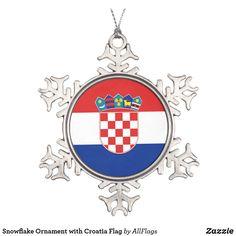 Shop Snowflake Ornament with Croatia Flag created by AllFlags. Snowflake Ornaments, Ball Ornaments, Snowflakes, Christmas Ornaments, Elegant Christmas Trees, Christmas Decorations, Holiday Decor, Christmas Ideas
