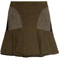 Stella McCartney Patti tweed mini skirt ($785) via Polyvore