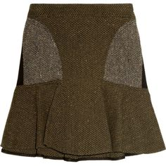 Stella McCartney Patti tweed mini skirt ($785) via Polyvore