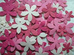 100 diecut STAR FLOWER mulberry SCRAPBOOK topper DIFFERENT COLOUR MIXES U CHOOSE Star Flower, Scrapbook Supplies, Color Mixing, Different Colors, Paper Flowers, Cardmaking, Colour, Teddy Bears, Picnic