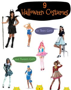 Halloween Costumes for Teen Girls and Tween Girls
