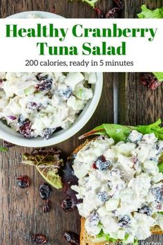 Cranberry Tuna Salad is the best tuna salad out there packed with cranberries, apples, celery, red onion for a healthy, delicious lunch.
