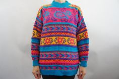 Vintage 80s 90s Fair Isle Sweater by SycamoreVintage on Etsy