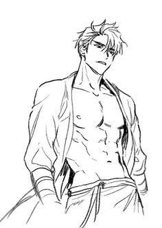 Pin on Anime / Manga / Art Drawing Body Poses, Guy Drawing, Drawing Base, Drawing People, Male Pose Reference, Body Reference Drawing, Drawing Reference Poses, Art Poses, Anatomy Art