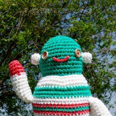 Cute Handmade Crochet ROBOT G by CharlesinNeedleland on Etsy