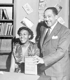 "Gwendolyn Brooks and Langston Hughes...""Hold fast to your dreams, for without them life is like a broken winged bird that cannot fly."" Langston Hughes"