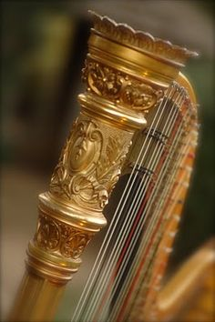 A beautiful golden harp for the sirens to play. Their song is supposed to try to lyre Odysseus in and a harp is a very beautiful instrument. It sounds great an comforting.