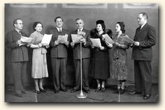 Cast of Yiddish radio drama, 1933