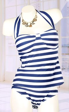 95e3d83bab5b4 Striped Tankini Swimsuit Bathing Suits For Teens, Swimsuits For Teens,  Modest Swimsuits, Vintage