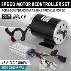 DC Electric Brushed speed Motor w/ Controller Scooter Go Kart Electric Kart, Electric Motor For Car, Electric Bike Kits, Electric Scooter, Diy Go Kart, Motor Scooters, Mini Bike, Tricycle, Bike Seat