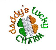 Lucky Charm Embroidery Pattern Irish Shamrock Design by BroderieCreative