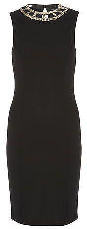 Womens black bodycon dress from Dorothy Perkins - £38 at ClothingByColour.com