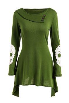 $15.40 Lace Spliced Skull Pattern Asymmetric Dress