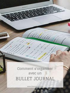 S'organiser avec un bullet journal Bujo, Weekly Log, Bullet Journal Inspiration, Smash Book, Filofax, Organiser, Notes, How To Plan, Bullets