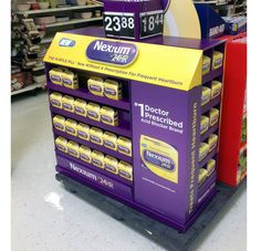 Nexium24HR Half Pallet Display - Pfizer Brings Heartburn Relief Over-The-Counter With New Nexium 24HR.