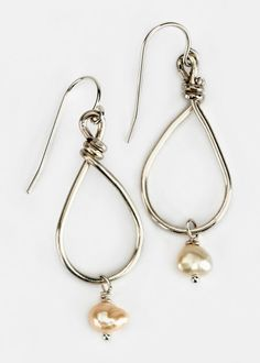 Ariana Ost - Freshwater Pearl Teardrop Earrings