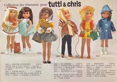 Tutti & Chris 1960s I had Tutti, her party dress and the raincoat outfit only mine was yellow
