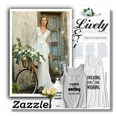 """""""Zazzle.co.uk"""" by fashion-all-around ❤ liked on Polyvore featuring OKA, women's clothing, women's fashion, women, female, woman, misses, juniors, wedding and zazzle"""
