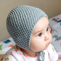 My First Bonnet Knitting pattern by anna awad Christmas Knitting Patterns, Easy Knitting Patterns, Baby Patterns, Baby Hats Knitting, Knitted Hats, Knit Beanie Pattern, Bonnet Pattern, I Cord, Baby Scarf