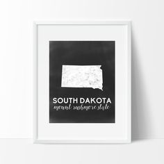 South Dakota Printable by SamanthaLeigh on Etsy