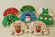 ugly Christmas sweater cookies 2013 | Cookie Connection
