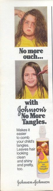 Mom went through a LOT of this, untangling my hair sunday nights after a bath, while watching Ed Sullivan!
