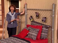 to Make a Chain-Link Headboard boys DIY head board.that's kind of awesome especially if we do a Spiderman scene behind it.that's kind of awesome especially if we do a Spiderman scene behind it. Boy Headboard, Baseball Headboard, Headboard Ideas, Boys Skateboard Room, Boys Baseball Bedroom, Skateboard Parts, Teen Boy Bedding, Industrial Decor, Ideas
