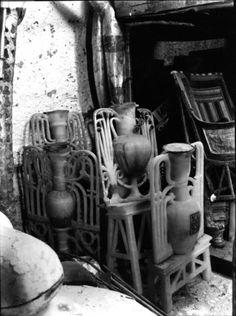 A group of calcite perfume vases, Tutankhamun's Tomb