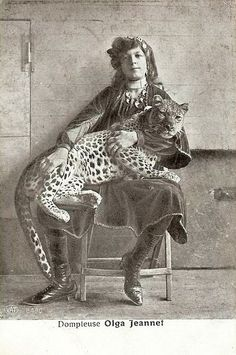 Olga Jeannet - Animal trainer.  She certainly looks competent at it.