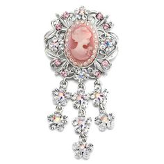 VICTORIAN IMAGE DANGLE FLOWER TASSELS AND PINS RHINESTONE BROOCH PIN Beauty Jewelry. $17.50. Color: Pink. Size (mm): 39.85*13.23*80. Metal: Crystal, Metal. Weight (gram): 20.9. DELIVERY 5 - 10 days