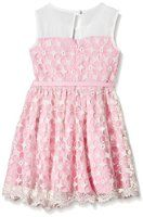 Yumi Girl's Embroidered Flower Prom Dress (Baby Pink Floral Dress