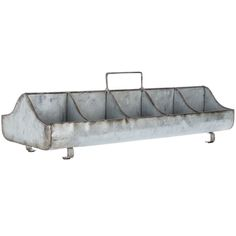 """Galvanized Metal Tray with Handle 