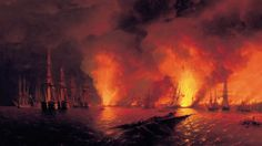 Battle of Sinop Drawing  #Wallpaper