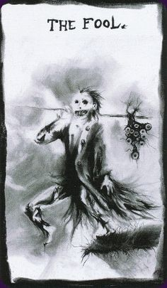 The Ritual Abuse Tarot is a dark and satirical tarot with 78 cards drawn in charcoal. It's an homage to children's illustrator Stephen Gammell, who was famous for his unsettling images in a series of horror short stories. Self-published by the artist.