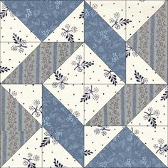 June 21 Windblown Square. Today's block was probably first published in an article about the WCTU in Farm and Fireside, August 1, 1888; but was subsequently published by the Ladies Art Company (pattern #161) and would have been in print by 1897. Barbara Brackman also found it under the names: Montgomery (Hearth and Home) and Celestial Problem (Nancy Cabot, Chicago Tribune, 1935).