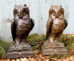 RARE 1916 Antique Owl Bookends Armor Bronze Krupka New York Collectible Vintage   eBay