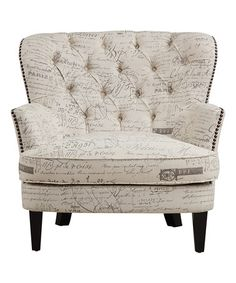 Another great find on #zulily! Paris Script Armchair #zulilyfinds.  $349.99