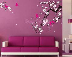 Albero ramo Cherry Blossom Decalcomanie da di singlestonestudios