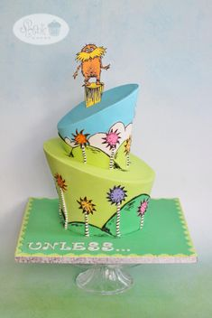 Dr. Seuss' - The Lorax Cake! - Cake by Leila Shook - Shook Up Cakes